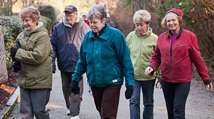 seniors outdoor walking club